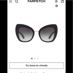 Dolce & Gabbana Cat Eye Tinted Sunglasses